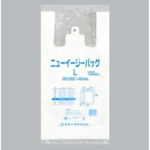 【100枚】ニューイージーバッグ L(白) 福助工業 ブロック付き レジ袋 安い ビニール袋 ポリ袋...