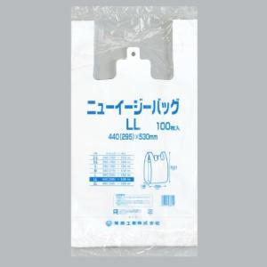 【100枚】ニューイージーバッグ LL(白) 福助工業 ブロック付き レジ袋 安い ビニール袋 ポリ...