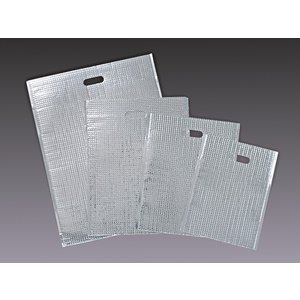 保冷袋 テープ付 平袋 LL  サイズ:巾350×長さ475mm(テープ下390mm)  材質:AL...