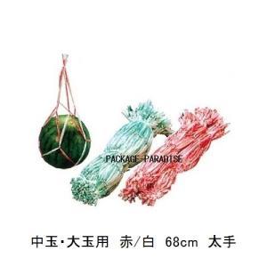 スイカネット 中玉・大玉用  カラー:ピンク/白  材質:PP  長さ:68cm  重量:9.6g ...