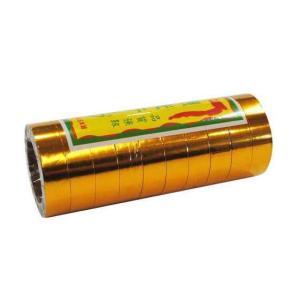 観光テープ(紙テープ )   金(裏面は白色です)   25m 10巻入 【お取り寄せ(2〜3日)】