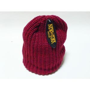 【New York Hat】 ニューヨーク・ハット #4655 Chunky Beanie バーガンティー|paddies