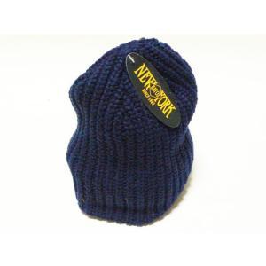 【New York Hat】 ニューヨーク・ハット #4655 Chunky Beanie ネイビー|paddies