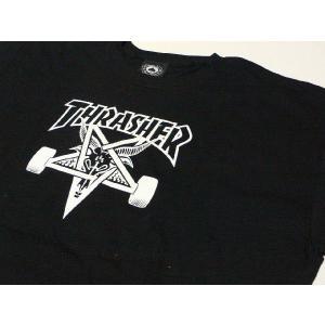 【Thrasher】 スラッシャー SKATE GOAT T-SHIRTS ブラック|paddies
