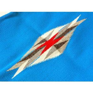 【Ortega's】 オルテガ 手織りチマヨ・ベスト スクエアフロント サイズ36 ターコイズブルー  83SQ-3644|paddies|04