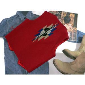 【Ortega's】 オルテガ 手織りチマヨ・ベスト カーディナルレッド サイズ36 83RG-36238|paddies|02