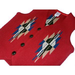 【Ortega's】 オルテガ 手織りチマヨ・ベスト カーディナルレッド サイズ36 83RG-36238|paddies|03