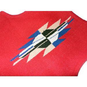 【Ortega's】 オルテガ 手織りチマヨ・ベスト カーディナルレッド サイズ36 83RG-36238|paddies|04
