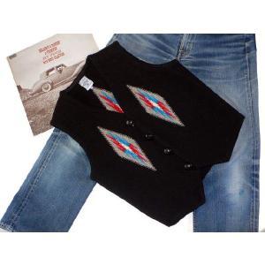 【Ortega's】 オルテガ 手織りチマヨ・ベスト サイズ36 ブラック【限定色】 83RG-36254|paddies