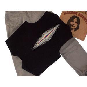 【Ortega's】 オルテガ 手織りチマヨ・ベスト サイズ38 ブラック【限定色】 83RG-38266|paddies|02