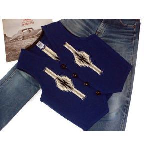 【Ortega's】 オルテガ 手織りチマヨ・ベスト サイズ38 ネイビー【限定色】 83RG-38269|paddies