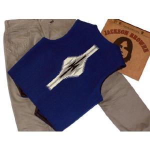 【Ortega's】 オルテガ 手織りチマヨ・ベスト サイズ38 ネイビー【限定色】 83RG-38269|paddies|02