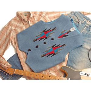 【Ortega's】 オルテガ 手織りチマヨ・ベスト サイズ38 デルフトブルー(サックスブルー) 83RG-38284|paddies