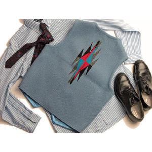 【Ortega's】 オルテガ 手織りチマヨ・ベスト サイズ38 デルフトブルー(サックスブルー) 83RG-38284|paddies|02
