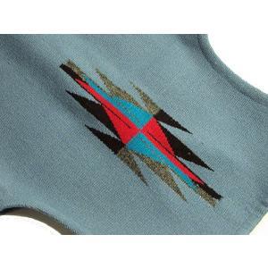 【Ortega's】 オルテガ 手織りチマヨ・ベスト サイズ38 デルフトブルー(サックスブルー) 83RG-38284|paddies|04
