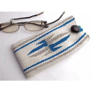 【Ortega's】 オルテガ 手織りアイグラス・ケース 87EC-195 ホワイト|paddies