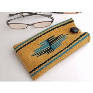 【Ortega's】 オルテガ 手織りアイグラス・ケース 87EC-231 ゴールド|paddies
