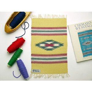 【Ortega's】 オルテガ 手織りチマヨ・ブランケット 25x38cm レモン・イエロー(限定色) 841015-172|paddies