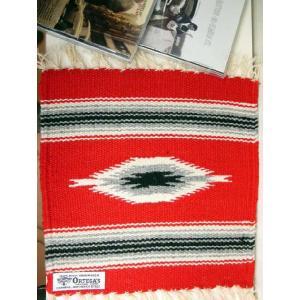 【Ortega's】 オルテガ 手織りチマヨ・ブランケット 25x25cm スカーレット・レッド 841010-568|paddies