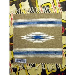 【Ortega's】 オルテガ 手織りチマヨ・ブランケット 25x25cm タン(ベージュ) 841010-511|paddies