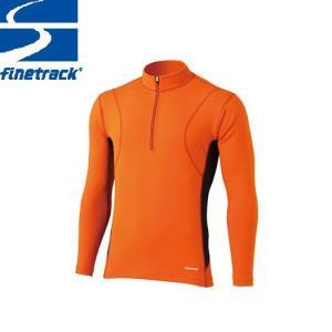 finetrack ファイントラック メンズ フラッドラッシュ ジップネック Col:CH アンダーウエア ジップアップ スポーツ 吸汗 速乾 撥水 保温 :FWM0122|paddle-club