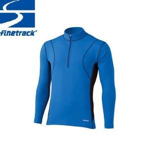 finetrack ファイントラック メンズ フラッドラッシュ ジップネック Col:LB アンダーウエア ジップアップ スポーツ 吸汗 速乾 撥水 保温 :FWM0122|paddle-club