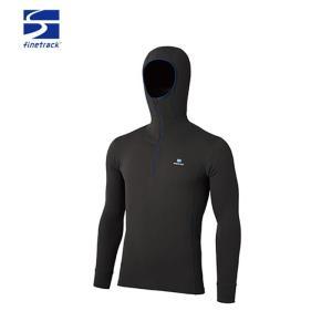 ファイントラック finetrack メンズ メリノスピンサーモフーディ 長袖 ZIPシャツ FUM0614|paddle-sa