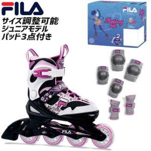 FILA フィラ J-ONE COMBO GIRL プロテクターセット インラインスケート フィットネス  スキーオフトレ ジュニアモデル 子供用 (onecolor):