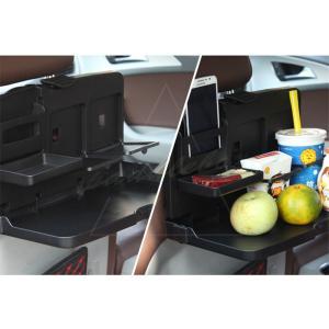 折り畳みテーブル バックシート 収納 ポケット テーブル カー用品 多機能 ドリンクホルダー 車載用...