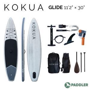 KOKUA GLIDE SUP サップ スタンドアップパドル インフレータブル 11'2ft×30inch 釣り 2人乗り 初心者オススメ|paddler