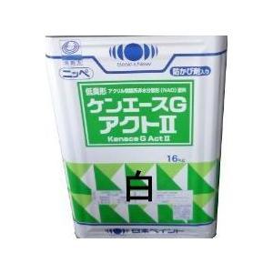 ニッペ ケンエースGアクト2(艶消し・低臭) ホワイト 16Kg缶/1液 油性 アクリル 日本ペイント