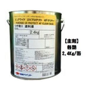 ニッペ ピュアライドUVプロテクト4Fクリヤー 透明 各艶(艶有・3分艶有)(主剤/硬化剤別売り)  2.4Kg缶【2液 油性 フッ素 日本ペイント】|paint-lucky