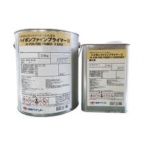 ニッペ ハイポンファインプライマーII 各色 4Kgセット【2液 油性 錆止め 日本ペイント】|paint-lucky