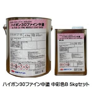 ハイポン30ファイン中塗 日本塗料工業会(中彩色B) 5Kgセット