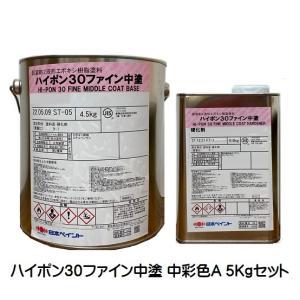 ハイポン30ファイン中塗 日本塗料工業会(中彩色A) 5Kgセット