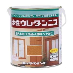 水性ウレタンニス 0.7L 各色 【ロックペイント】|paintandtool
