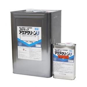 水性2液型のウレタン床面用クリヤー アクアクリーンU 16kgセット(主剤15kg  硬化剤1kg) 【アトミクス株式会社】|paintandtool