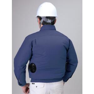 冷却ファン内臓 2段階調節機能付 熱中症対策 【長袖 空調服 作業着】 ライトブルー 各サイズ|paintandtool