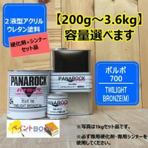 【ボルボ  700】TWILIGHT BRONZE(M) 【主剤+硬化剤+シンナー】 パナロック 2...