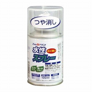 水性スプレー 100MLつや消しネオクリヤー(アトムハウスペイント/塗料/ペンキ/DIY)