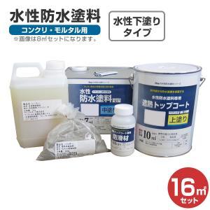 水性防水塗料 16平米セット (アトムハウスペイント/コンクリ・モルタル用)|paintjoy