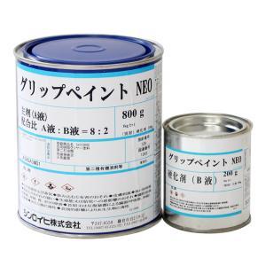 グリップペイントNEO 透明 1kgセット  (シンロイヒ/溶剤2液/ノンスリップクリヤー塗料)|paintjoy