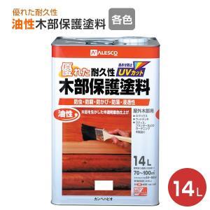油性木部保護塗料 14L (屋外木部用/カンペハピオ/ペンキ/塗料) paintjoy