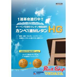 【送料無料】1液MレタンHG 黒 15K ≪関西ペイント≫