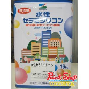【送料無料】 水性弾性セラミシリコン 艶有 標準色・淡彩色 ≪エスケー化研≫|paintshop-uedaya