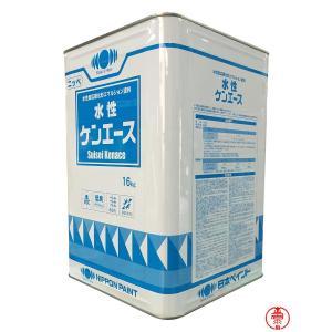 水性ケンエース 白 16K ホワイト【送料無料】 日本ペイント 水性塗料(10000011)|paintshop