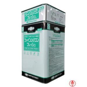 ファインシリコンフレッシュ 白 15Kセット ホワイト【送料無料】日本ペイント 2液形アクリルシリコン樹脂塗料(10000038)|paintshop