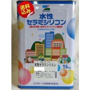 水性セラミシリコン 3分艶 白 16K【送料無料】エスケー化研 外壁用塗料(10000121)|paintshop