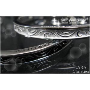LARA Christie ララクリスティー セイントグラス ペアバングル PAIR Label《誕生日・2人の記念日・ギフト・クリスマスプレゼントに》|pair-kizuna