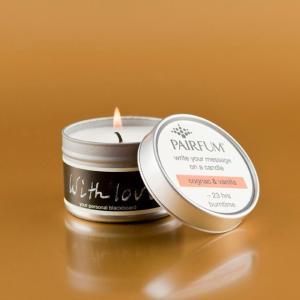 メッセージキャンドル 杉の木の香り Ceder noir pairfum